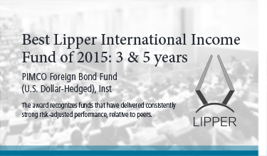 Best Lipper International Income Fund of 2015